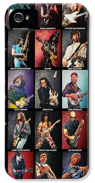 Springsteen iPhone 5 Cases - Greatest guitarists of all time iPhone 5 Case by Taylan Soyturk