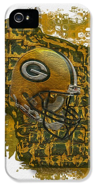 Painter iPhone 5 Cases - Green Bay Packers iPhone 5 Case by Jack Zulli