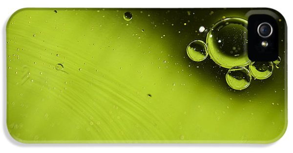 Bubbles iPhone 5 Cases - Green Bubble iPhone 5 Case by Samuel Whitton