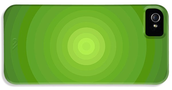 Disc iPhone 5 Cases - Green Circles iPhone 5 Case by Frank Tschakert