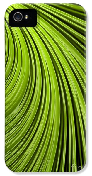 Meeting iPhone 5 Cases - Green Flow Abstract iPhone 5 Case by John Edwards