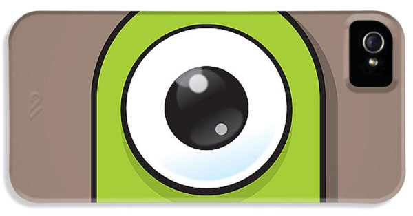 Eyeball iPhone 5 Cases - Green iPhone 5 Case by Samuel Whitton