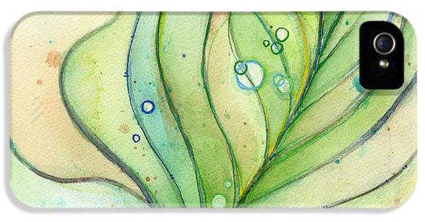 Green Watercolor Bubbles IPhone 5 / 5s Case by Olga Shvartsur