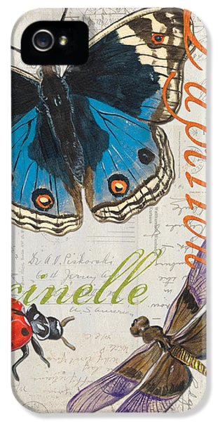 Grey Postcard Butterflies 4 IPhone 5 / 5s Case by Debbie DeWitt