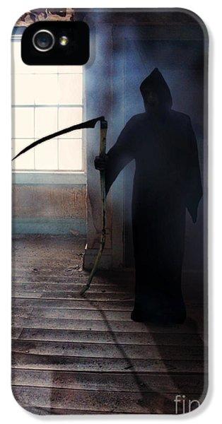 Grim Reaper iPhone 5 Cases - Grim Reaper iPhone 5 Case by Jill Battaglia