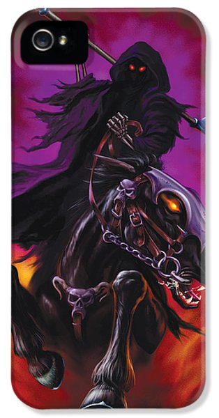 Grim Reaper iPhone 5 Cases - Grim Rider iPhone 5 Case by Garry Walton