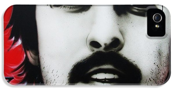Dave Grohl iPhone 5 Cases - Grohl iPhone 5 Case by Christian Chapman Art
