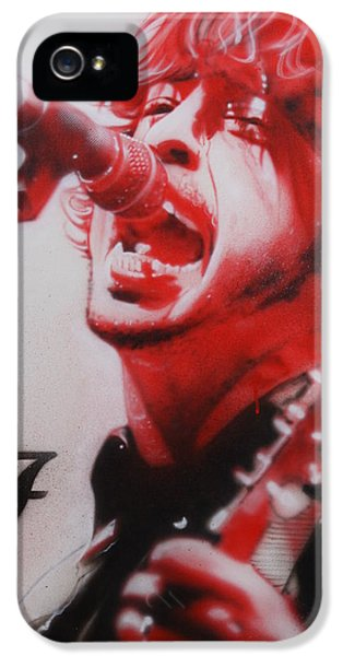 Dave Grohl iPhone 5 Cases - Grohl II iPhone 5 Case by Christian Chapman