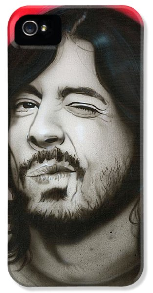 Dave Grohl iPhone 5 Cases - Grohl III iPhone 5 Case by Christian Chapman Art