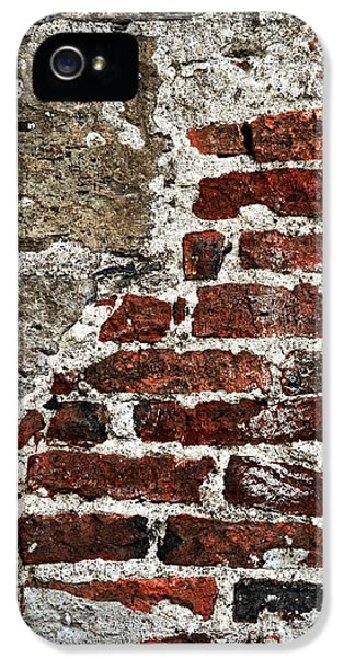 Chip iPhone 5 Cases - Grunge brick wall iPhone 5 Case by Elena Elisseeva