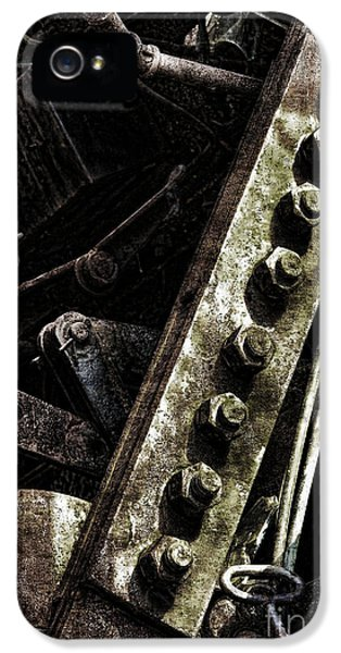 Industrial iPhone 5 Cases - Grunge Industrial Machinery iPhone 5 Case by Olivier Le Queinec