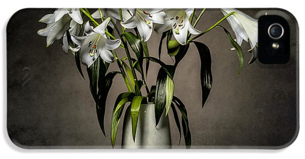 Anniversary iPhone 5 Cases - Grunge Lilies iPhone 5 Case by Erik Brede