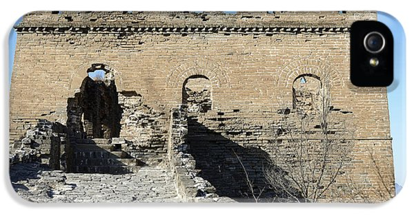 Nl iPhone 5 Cases - Guardsman Tower on the Great Wall of China iPhone 5 Case by Brendan Reals