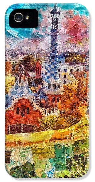 Mo T iPhone 5 Cases - Guell Park iPhone 5 Case by Mo T