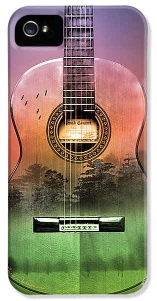 Fire Works iPhone 5 Cases - Guitar Nature  iPhone 5 Case by Mark Ashkenazi