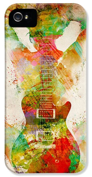 Color iPhone 5 Cases - Guitar Siren iPhone 5 Case by Nikki Smith