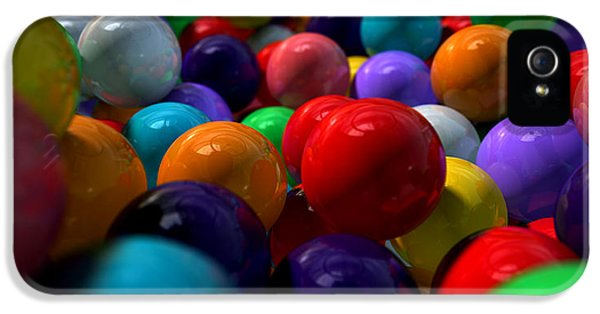 Reflective iPhone 5 Cases - Gumballs Up Close And Personal iPhone 5 Case by Allan Swart