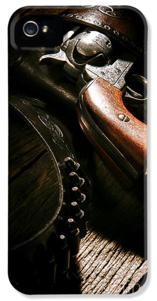 Caliber iPhone 5 Cases - Gunslinger Tool iPhone 5 Case by Olivier Le Queinec