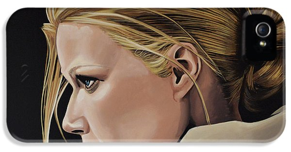 Glamour iPhone 5 Cases - Gwyneth Paltrow iPhone 5 Case by Paul Meijering