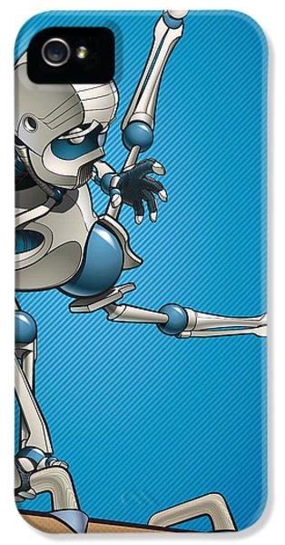 Robot iPhone 5 Cases - Gym-Bot Pommels 3 iPhone 5 Case by Nicholas Bockelman