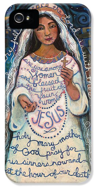 Religious iPhone 5 Cases - Hail Mary iPhone 5 Case by Jen Norton