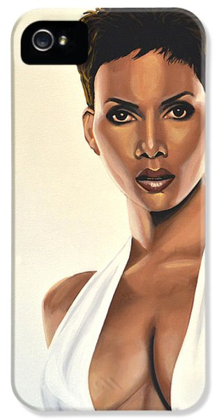 Monster iPhone 5 Cases - Halle Berry iPhone 5 Case by Paul Meijering