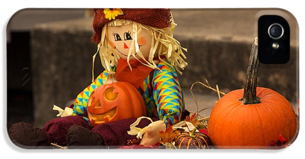 Halloween iPhone 5 Cases - Halloween Doll iPhone 5 Case by Iris Richardson