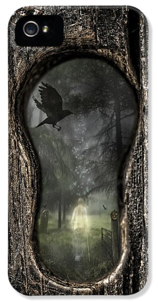 Burial iPhone 5 Cases - Halloween Keyhole iPhone 5 Case by Amanda And Christopher Elwell