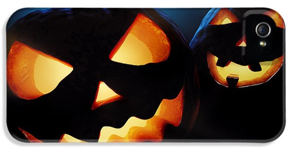Carve iPhone 5 Cases - Halloween pumpkins closeup -  jack olantern iPhone 5 Case by Johan Swanepoel