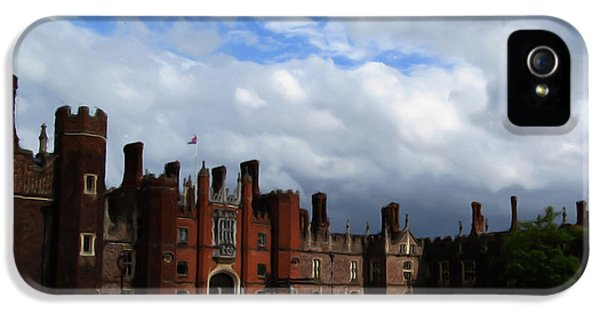 Castle iPhone 5 Cases - Hampton Court iPhone 5 Case by Jenny Armitage
