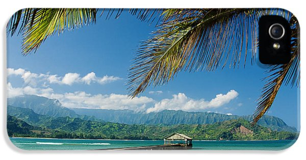 Bay iPhone 5 Cases - Hanalei Pier and beach iPhone 5 Case by M Swiet Productions