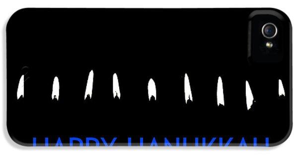 Hanukkah Card iPhone 5 Cases - Happy Hanukkah 2 iPhone 5 Case by Fraida Gutovich