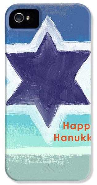 Hanukkah Card iPhone 5 Cases - Happy Hanukkah Card iPhone 5 Case by Linda Woods
