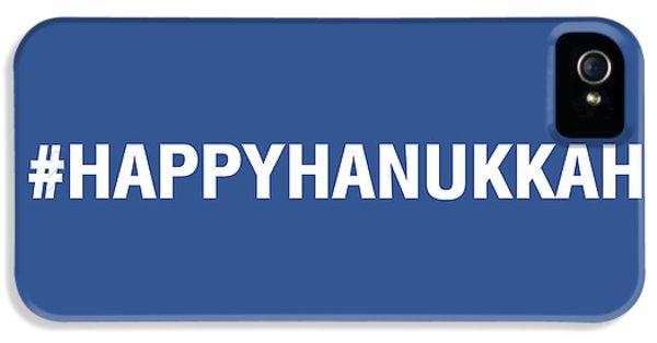 Hanukkah Card iPhone 5 Cases - Happy Hanukkah Hastag iPhone 5 Case by Linda Woods
