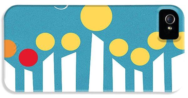 Hanukkah iPhone 5 Cases - Happy Hanukkah Menorah Card iPhone 5 Case by Linda Woods
