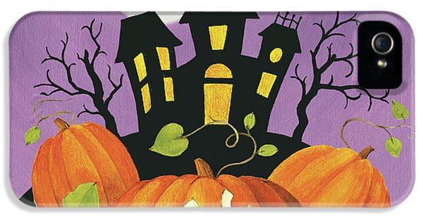 Happy Haunting House On Pumpkins IPhone 5 / 5s Case by Lisa Audit