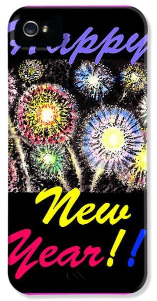 Firework iPhone 5 Cases - Happy New Year iPhone 5 Case by Irina Sztukowski