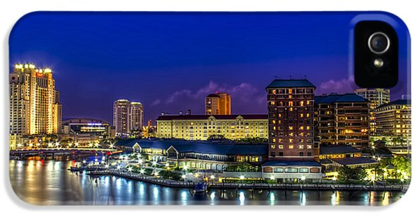 Harbor iPhone 5 Cases - Harbor Island Nightlights iPhone 5 Case by Marvin Spates