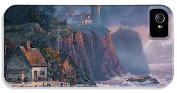Lighthouse iPhone 5 Cases - Harbor Light Hideaway iPhone 5 Case by Michael Humphries
