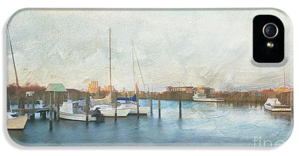 Crabbing iPhone 5 Cases - Harbor Morning iPhone 5 Case by Terry Rowe