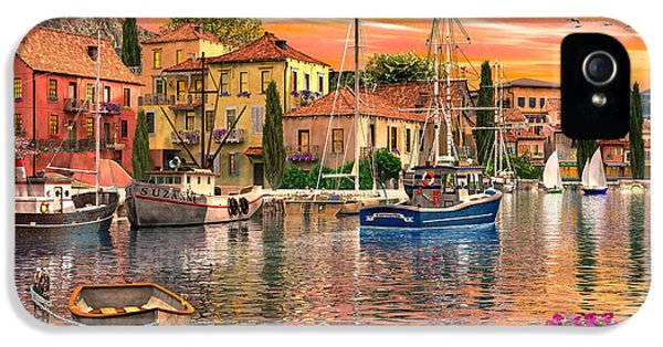 Harbour iPhone 5 Cases - Harbour Sunset iPhone 5 Case by Dominic Davison