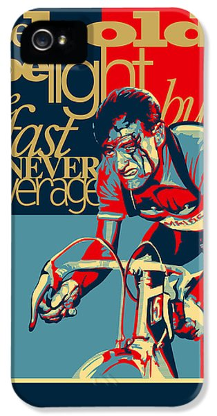 Screen iPhone 5 Cases - Hard as Nails vintage cycling poster iPhone 5 Case by Sassan Filsoof