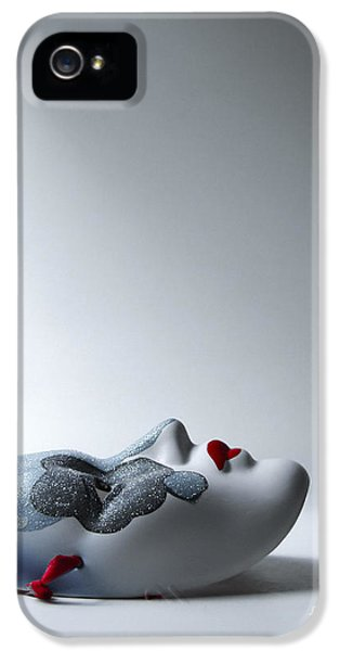 Mask iPhone 5 Cases - Harlequin iPhone 5 Case by Diane Diederich