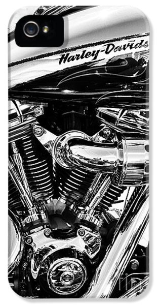 Engine iPhone 5 Cases - Harley Monochrome iPhone 5 Case by Tim Gainey
