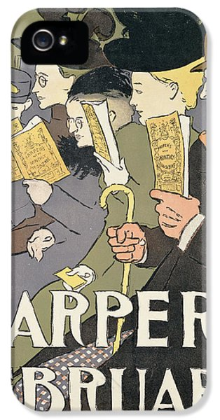 Bowler iPhone 5 Cases - Harpers February, 1897 Colour Litho iPhone 5 Case by Edward Penfield