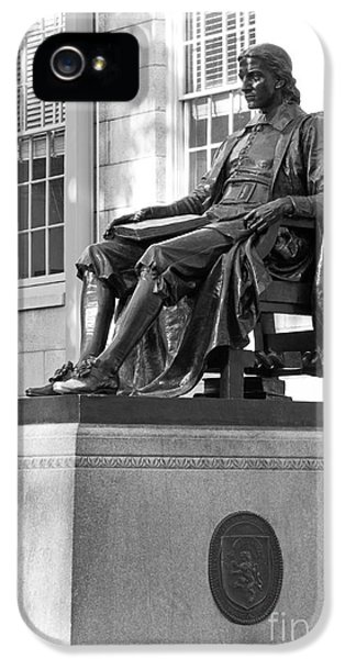 John Harvard Statue At Harvard University IPhone 5 / 5s Case by University Icons