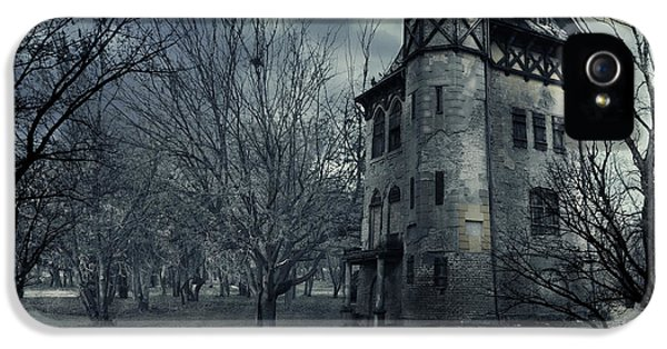 Haunted Houses iPhone 5 Cases - Haunted house iPhone 5 Case by Jelena Jovanovic
