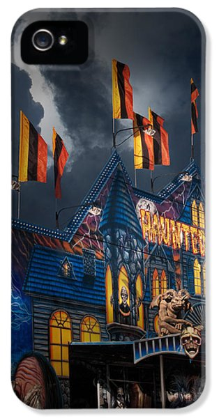 Midway Haunted House iPhone 5 Cases - Haunted House on the Midway iPhone 5 Case by David and Carol Kelly