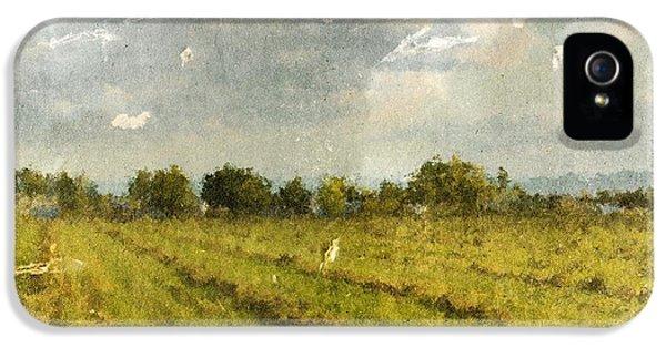 Hay Fields In September IPhone 5 / 5s Case by Brett Pfister