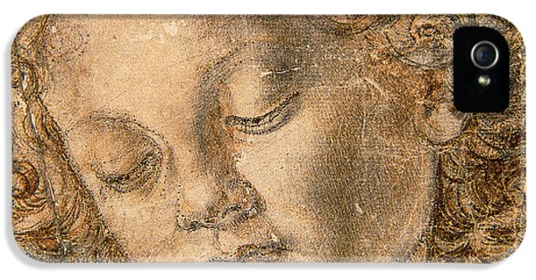 Angelic iPhone 5 Cases - Head of an Angel iPhone 5 Case by Andrea del Verrocchio